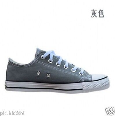 Women Lady ALL STARs Chuck Taylor Ox Low Top classic Gray Canvas Sneakers US10