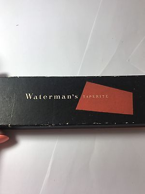 Vintage Boxed Waterman 877 14ct Gold Nib Black Gold Fountain Pen Writing