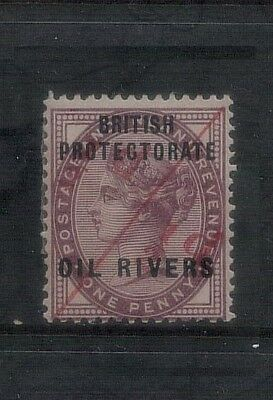 Nigeria British Protectorate Oil Rivers 1/2d on 1d SG7 MH