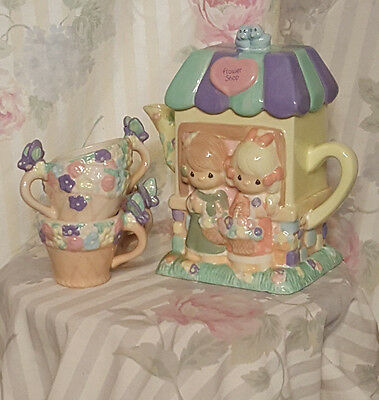 Precious Moments Flower Shop Tea Set Final Listing