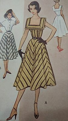 Vintage McCall's 1950's Pattern 8797 Misses' Dress and Jacket  FF Size 16 BS 34
