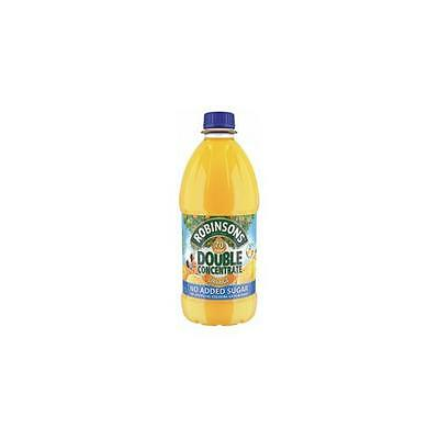 A02115 Robinsons Squash Double Concentrate No Added Sugar 1.75 Litres Orange x2
