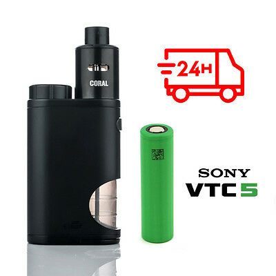 Eleaf® Pico Squeeze Kit con Coral RDA - Black + LG IMR18650-HE4 35A