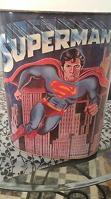 Vintage Superman Garbage Can