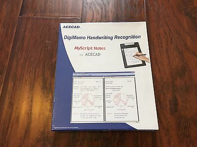 Acecad Digimemo Handwriting Recognition My Script Notes New Sealed