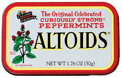 3 x Tins Altoids Curiously Strong Mints Peppermints in Original Tin New Sealed