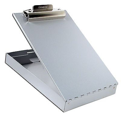 Metal Storage Clipboard Letter Office Document Paper Box Container Organizer