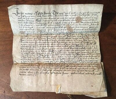 1555 - Probate Copy Of Sir Thomas Burton's Will.