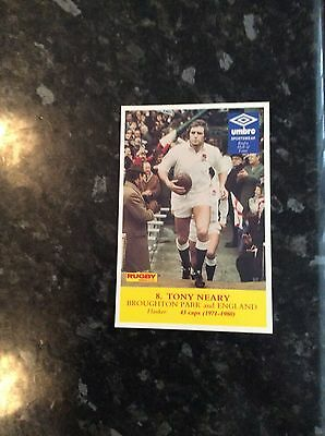 Postcard Size Photo Of Tony Neary 1981 Issued By Rugby World Magazine