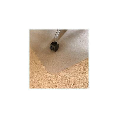 Clear Floortex Chair Mat Polycarbonate Rectangular for Carpet Protection 120x134