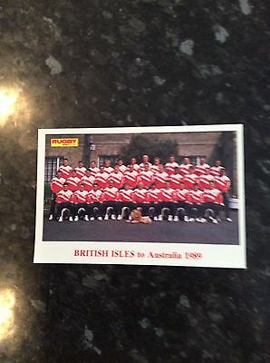 Postcard Size Photo Of British Isles To Australia 1989 Issued By Rugby World