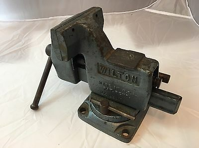 "Wilton Tilt Bench Vise, 4"" Jaw, Made in USA, #121091"