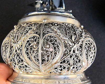 Unique Antique set of Lighter and Ashtray made in Spanish Silver (#300)