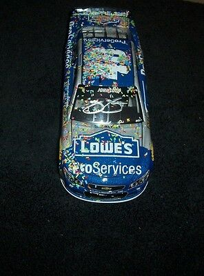 Jimmie Johnson SIGNED DOVER win 1:24 DIECAST  COA
