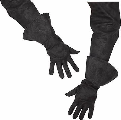 Mens Pirate Gloves Black Faux Suede Leather Buccaneer Costume Carribean Adult