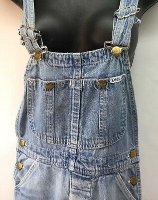"Vintage 70s LEE Overalls Button Fly 28"" X 32"" Made in the USA Carpenter"