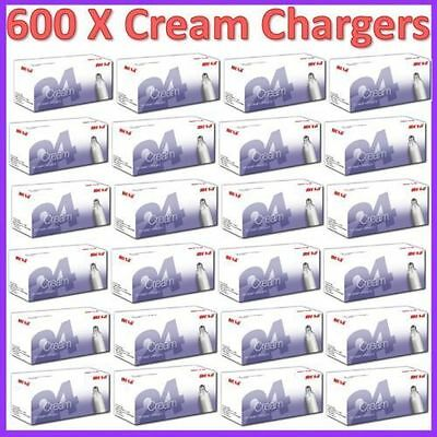 600 x MOSA 8g Whipped Cream Chargers Nitrous Oxide N2O NOS Canisters UK SELLER