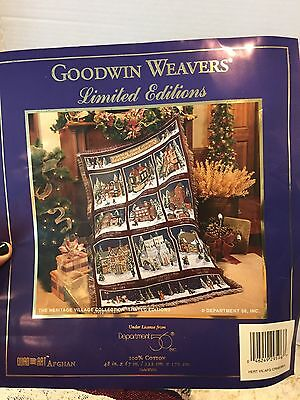 "Dept 56 Dickens Heritage Village Collection 100% Cotton Throw 48"" X 67"""