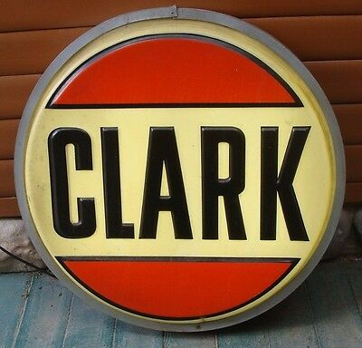 Original 3ft Clark Light Up Advertising Sign *Gas & Oil