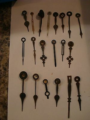Antique clock hands/parts   20 clock hands