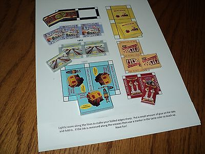 Vintage Games for the Dollhouse - 1/12 Scale - Set #2