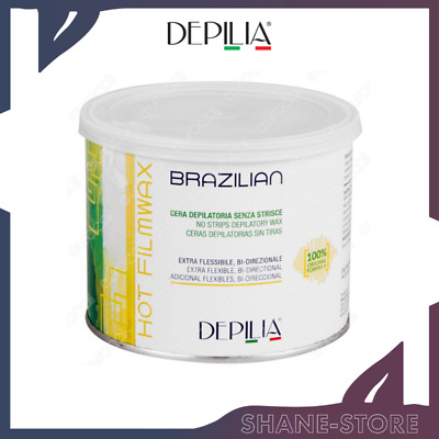 6 DEPILIA CERA DEPILATORIA BRASILIANA LIPOSOLUBILE ELASTICA SENZA STRISCE 500 ml