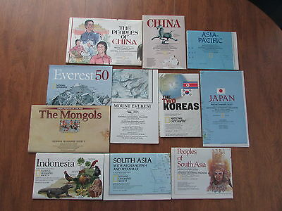 Zz1706 National Geographic Maps/suppliments Of Asia Lot Of 11