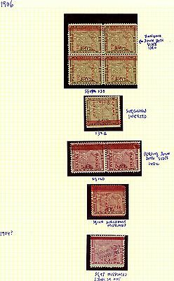 PANAMA STAMPS 1904 1906 #SG97 &140 MISPLACED OVPRNT, #SG 139c & d: RA CARTER