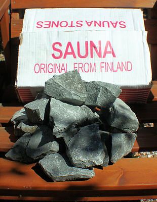 Traditional Finish Grade A1 pre washed, Sauna Stones 15kg