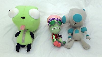 INVADER ZIM Plush Lot Collectible Classic Official GIR Viacom Nickelodeon HTF