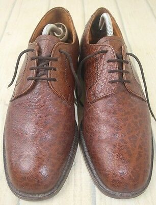 Rare Vintage Quality James Baker Brown Leather Shoes UK 8.5 Made in England VGC