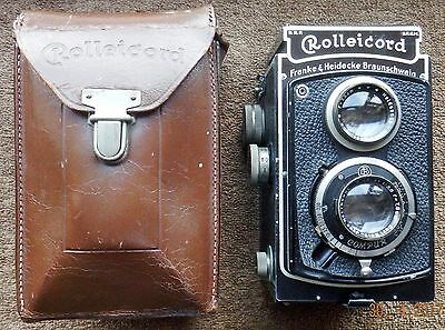 EARLY CASED ROLLEICORD COMPUR TLR 7.5cm f3.8 TRIOTAR TAKING LENS