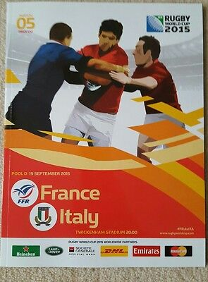Rugby World Cup Programme 2015 France v Italy