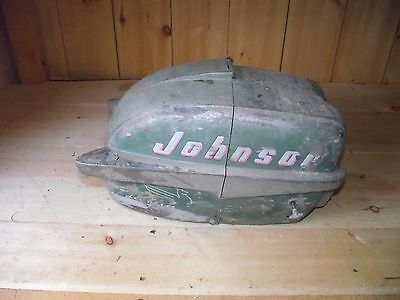 AF1C3650 1950's Vintage Johnson 10 HP Seahorse Outboard Cowl Engine Cover Hood