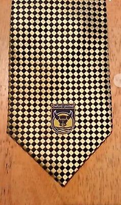Mens Silk Tie Blue Gold Ltd Ed Oxford United Hand made Football Collectable