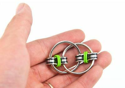 GREEN Key Ring Hand Spinner Fidget EDC Sensory Stress Relief Toy For Autism ADHD