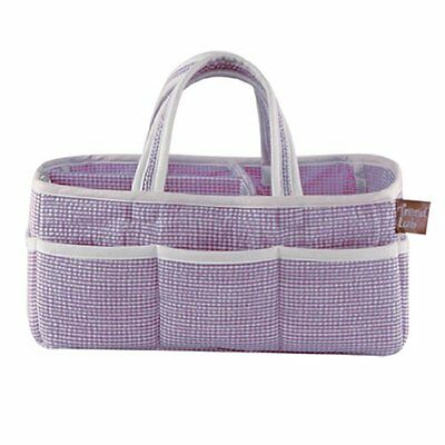 Trlb-100192-Storage Caddy - Lilac Gingham Seersucker
