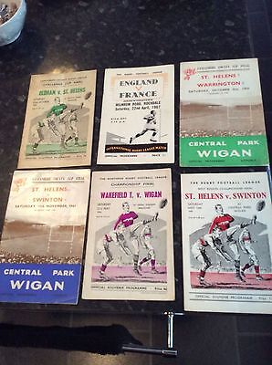 5 X Cup Finals From 1958 To 1964 And One Junior International 1967 St Helens Etc