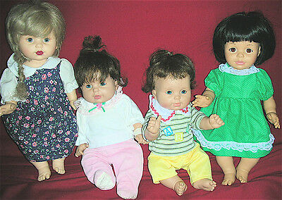 Lot of 4 Dressed Playmates Baby So Beautiful Dolls