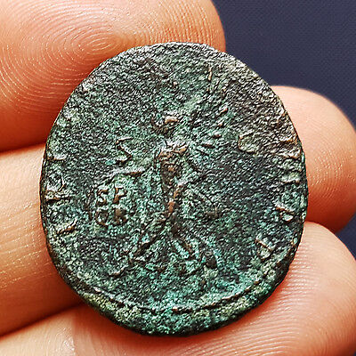 ROMAN EMPIRE - TRAJAN (98-117 AD) – NICE AE AS with VICTORY on R/ - 10.18 gr.