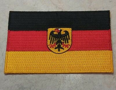 Embroidered German Coat Arms Shield Flag Sew On Iron On