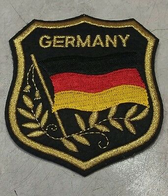 German Flag Embroidered Germany Coat Arms Shield Iron On Sew On