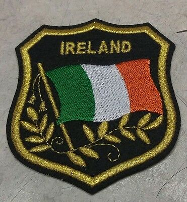 Ireland's​ Flag Embroidered Patch in Shield Irish Flag