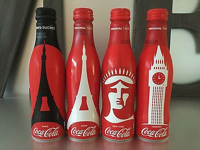 2017 Coca Cola Alu Set From France /  4 Bottles