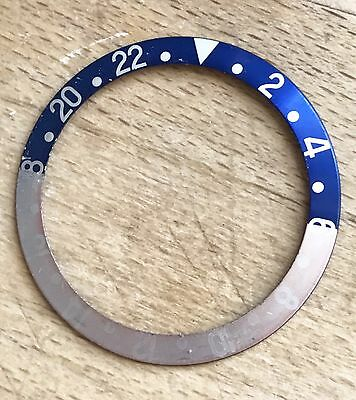 Original Rolex - GMT-Master 16700 16710 fat Font Pepsi insert Inlay blau/rot TOP