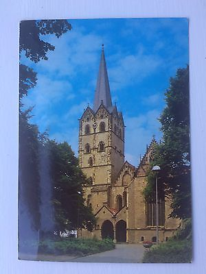 Postcard Church, Herford In Westfalen, Germany 1980's