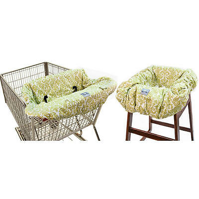Itzy Ritzy Shopping Cart and High Chair Cover - Avocado Damask