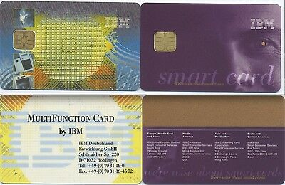 Lot 2 cartes promotionnelles IBM Smart Card. Carte à puce