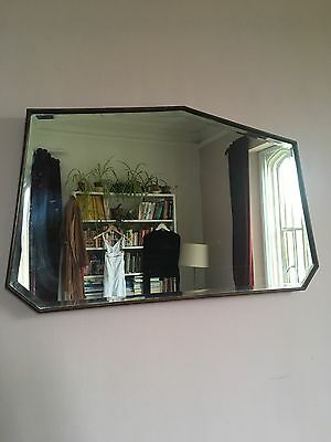 Bevelled Edge Art Deco Style Wood Frame Mirror- Over Mantle