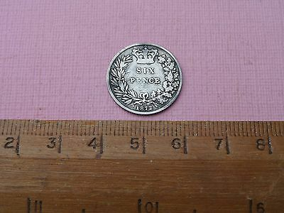Queen Victoria Silver Sixpence 1872  (283)